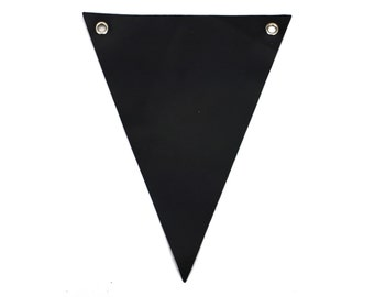 Set of 12 Chalkboard Banner. (Triangle/Swallow Tail) Chalk ink friendly Great for events decoration. (CBF-x)