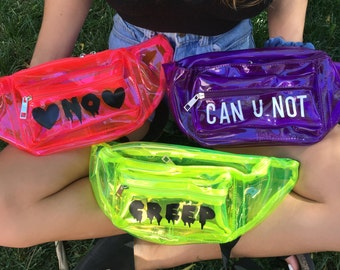 Transparent Neon PVC Fanny Pack