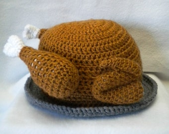 Turkey on a platter hat