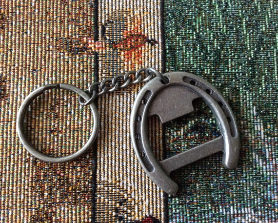 horse shoe bottle opener keychain gift idea aluminum horse. Black Bedroom Furniture Sets. Home Design Ideas