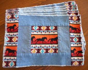 Set of 6 Galloping Horses Placemats