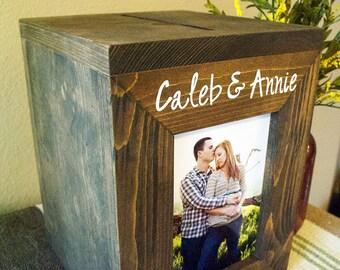 Wedding Card Box, Personalized Wedding Card box, Money Box, rustic wedding, rustic card box, wood card box