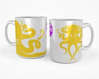 Octopus mug - Yellow