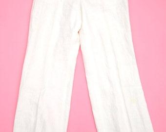 White Cabana Pants