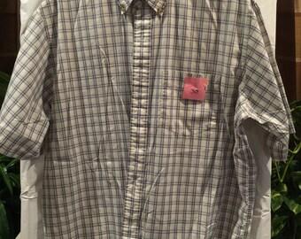 Big Mens Arrow Short sleeve dress shirt