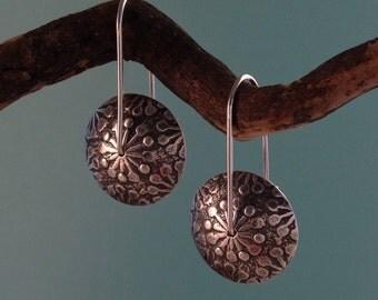 Earrings - Silver Polka Dot Lentils