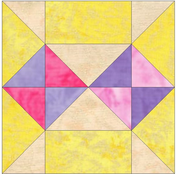Boise Easy Block Paper Templates Quilting Block Pattern PDF