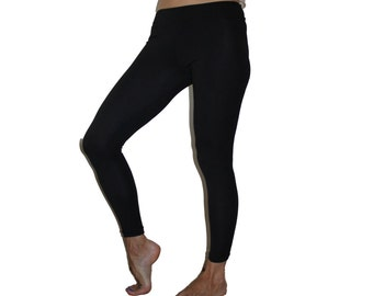 Bamboo leggins/black leggins/organic leggins/yoga pants/lounge wear/maternity/activewear/bamboo clothing/organic clothing women/ethical