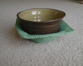 Crochet Microwave Bowl Cozy / Ice Cream Bowl Cozy / Bowl Pot Holder