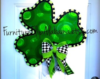 St. Patrick's Day door hanger,St.Patrick's day wreath,Shamrock door hanger,st. Patrick's wooden door hanger,clover door hanger