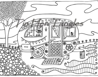 Camper Coloring Book Coloring Pages