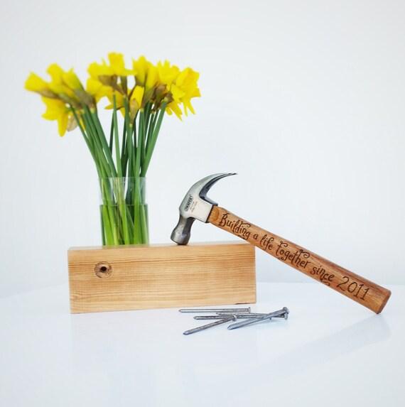 Personalised Hammer, 5th wedding anniversary