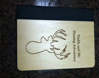 Hunting Laser Engraved Personalized Photo Album