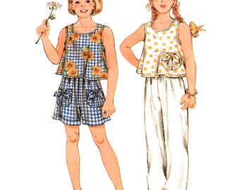 Simplicity Sewing Pattern 8873 Girls' Pants, Shorts, Top  Size:  A  2-3-4-5-6-6X  Used