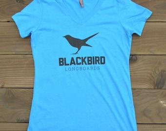 Women's fitted Cotton Blackbird Logo-T
