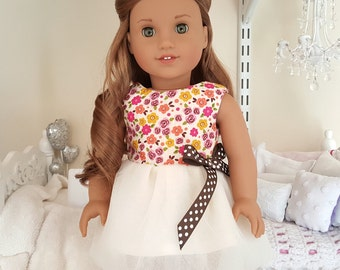 American girl doll floral party dress
