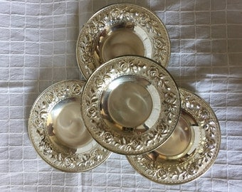 Free Shipping* Lot of 4 Tea Sucers Turkish Style