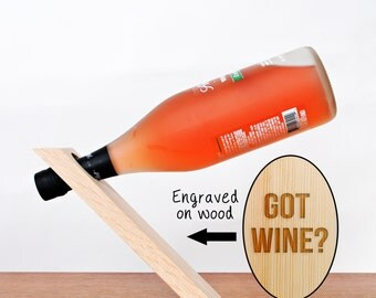 Wine Bottle Balancer - Wine Bottle Stand - Gravity Defying Wine Bottle Holder - Got Wine?