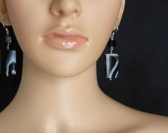 Fabulous Banded Agate Earrings