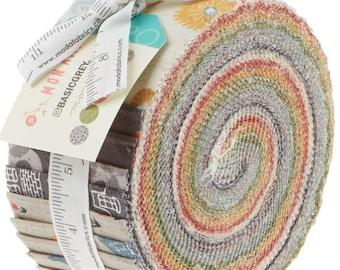 "Mon Ami by Moda 40- 2.5"" Strips Jelly Roll 100% Designer Cotton by BasicGrey 30410JR"
