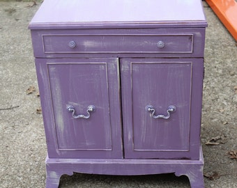 Shabby Chic purple nightstand