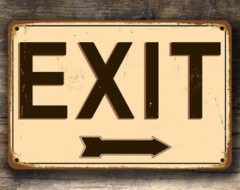 EXIT SIGN, Exit Signs, Vintage style Exit Sign, Custom Signs, Exit Sign with custom direction arrow, EXIT Door Signs, Exit
