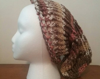 Spring Cotton Knit Slouchy Hat
