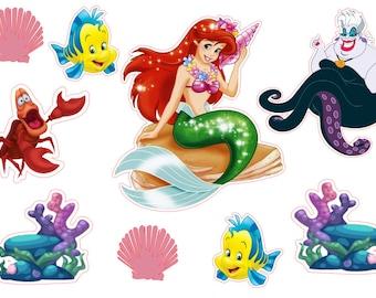 Little Mermaid die cuts