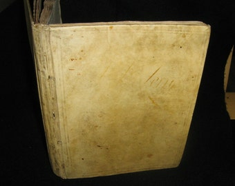 18th Century Vellum bound scrapbook