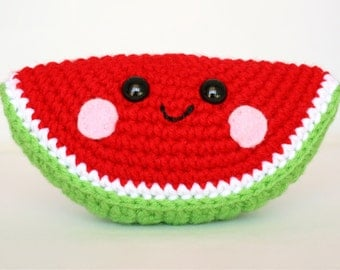 PATTERN: Watermelon Wedge Amigurumi Crochet Pattern - PDF Digital Download