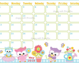 Calendar February 2016 Printable - Valentine planner - Mix and Match ...