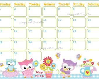2016 Calendar Half Sheet Downloadable Cute | Search Results | Calendar ...