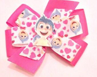 Inside Out Hair Bow , Inside Out Joy Bow , Inside Out Joy Outfit , Pinwheel Hair Bow