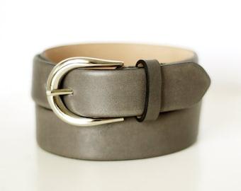 Free shipping! Gray belt, gray leather belt, leather belt, leather belt, gray leather belt, woman gray belt, womans leather belt