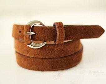 Free shipping! Leather belt, brown belt, woman belt, suede belt, dress belt, brown leather belt, waist belt, style belt, gift idea