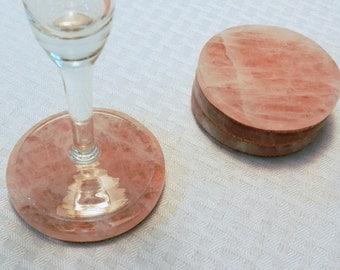 Rose Quartz Coasters - Set of 4 (COA-RQ4-02)