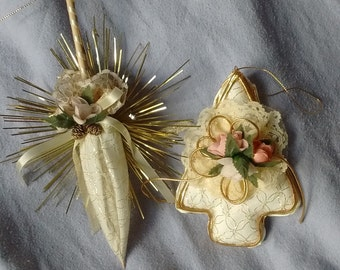 Set of two traditional Christmas tree decorations