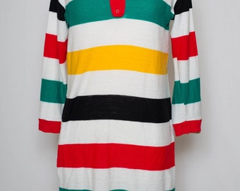 Very cool Pendleton inspired sweater dress