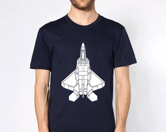 KillerBeeMoto: Lockheed Martin F-22 Raptor Fighter Jet Short  & Long Sleeve Shirt Top View Version