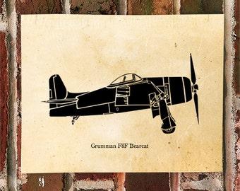 KillerBeeMoto: Limited Print Grumman F8F Bearcat Fighter Aircraft 1 of 50