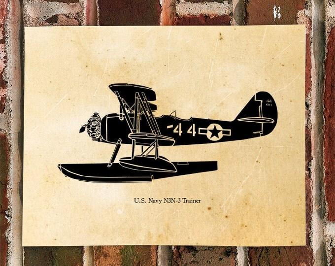 KillerBeeMoto: Limited Print U.S. Navy Seaplane N3N-4 Trainer Aircraft