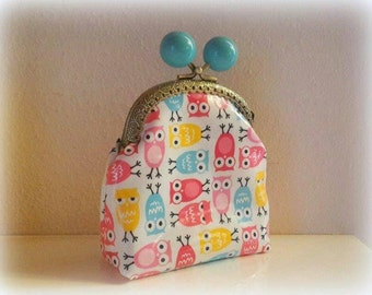 With colorful owls purse