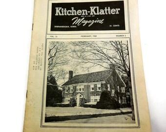 Kitchen-Klatter Magazine, Shenandoah, Iowa, February 1968