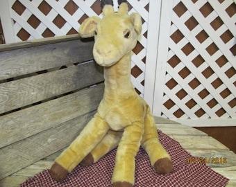 "Vintage 1986 Graphics International Plush Stuffed Animal Giraffe 21"""
