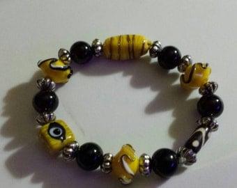 Bracelet, Glass beads