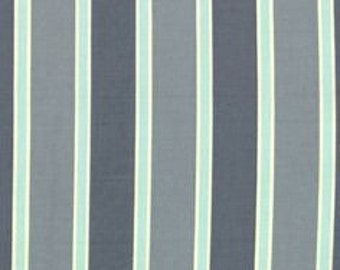 2.5 yards salt air blue stripe by cosmo cricket -- end of bolt