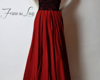 Long Dress Fraise au Loup - Evening Dress Backless