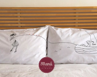 "Pillowcases ""Love Boat"""
