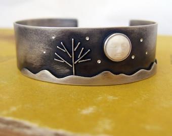 Sterling Silver Bone Bracelet