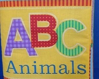 ABC Animals Homemade Children's Cloth Book